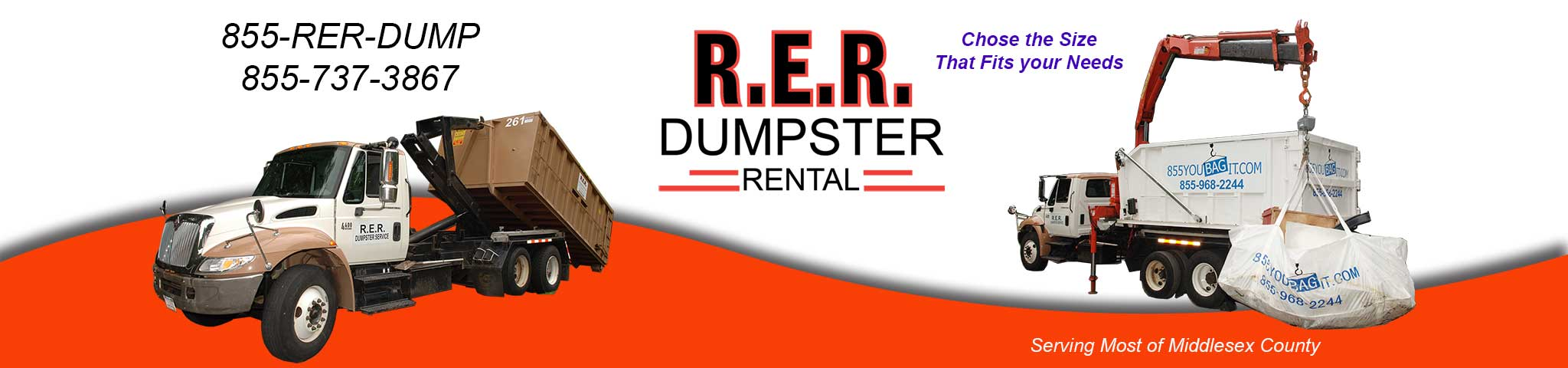 This is the RER Dumpster Rental Header Foreground Image